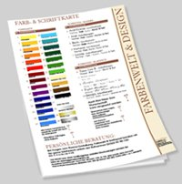 Farben und Design für Ihr Praxisschild bzw. Firmenschild