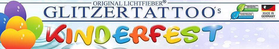 Original Lichtfieber®  Glitzertattoos - Made in Germany -