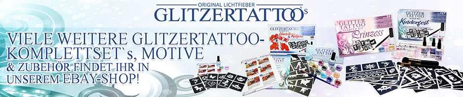 Glitzer Tattoo Komplett Sets von Lichtfieber bei Ebay