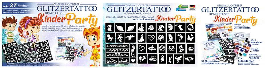 Halloween Glitzertattoo Schablonen Glittertattoo Stencils
