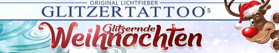 Weichnachten / Advent / Weihnachtsfeier Glitzertattoo SET inkl. Farben Glitterfarben Glittertattoo Stencils